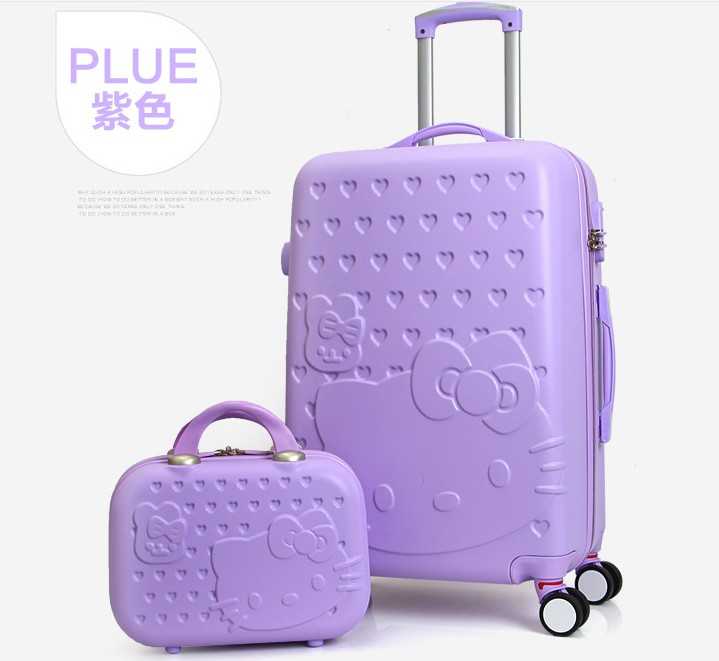 Travel Tale 20 24 28 Inch O Kitty Luggage Spinner Wheel Abs Suitcase Trolley Women And Children Case World Of Merchandise