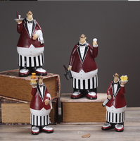 Cute chef Resin Figurine Creative kitchen Crafts European Style for Home Decor restaurant desktop ornament gift