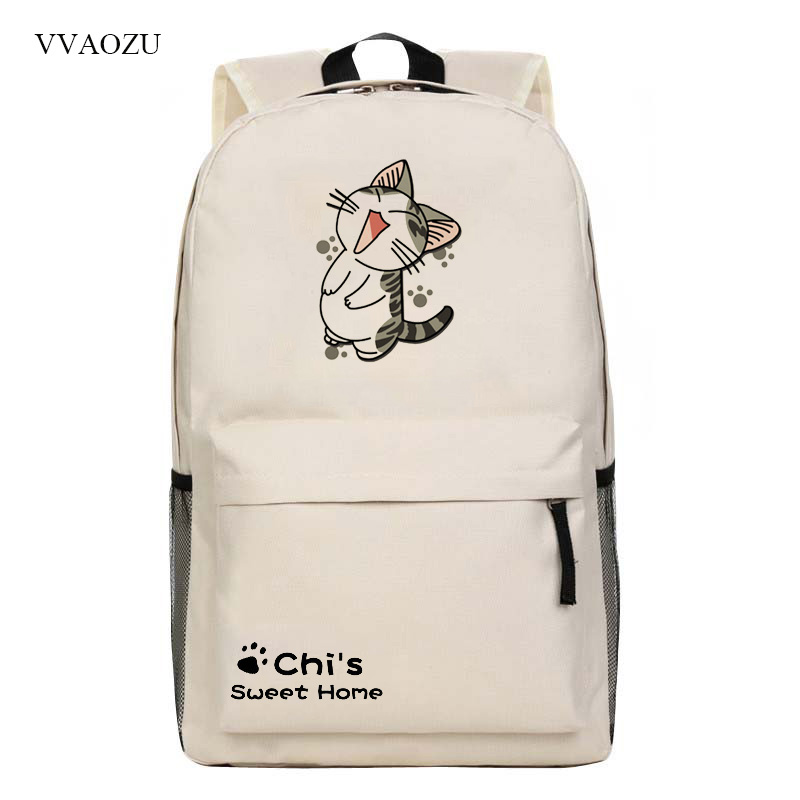 Cartoon Anime Chi's Sweet Home Backpack Chi Cute Cat Printing Nylon Shoulder Bag Middle School Student Schoolbags Kids Gift