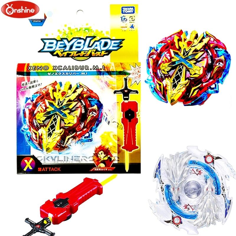 Hot Spinning Top Launchers Beyblade Burst B-48 B-66 Starter Zeno Excalibur .M.I (Xeno Xcalibur .M.I) Original Box For Kids Toys