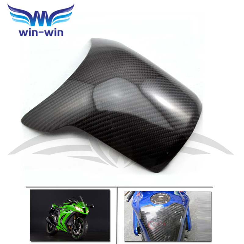 ФОТО motorcycle accessories black color carbon fiber fuel gas tank protector pad shield rear carbon fiber for DUCATI 848 1098 1198