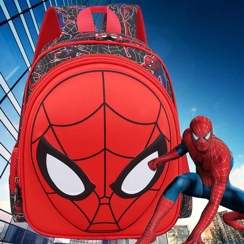 ZYJ 3D Spiderman Kinder Grundschule Rucksäcke Jungen Cartoon Spinne Mann Reise Kindergarten Student Rucksack Daypack Mochila
