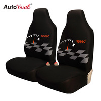 AUTOYOUTH Front Car Seat Cover Universal Fit For Most Bucket Seat Special Speed Style Design Car