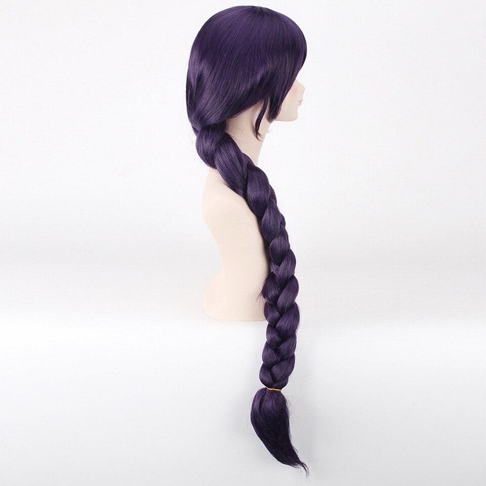 Love Live Nozomi Tojo Dark Purple Long Ponytail Wig Cosplay Anime Synthetic Hair Halloween Costume Wigs For Women 100cm