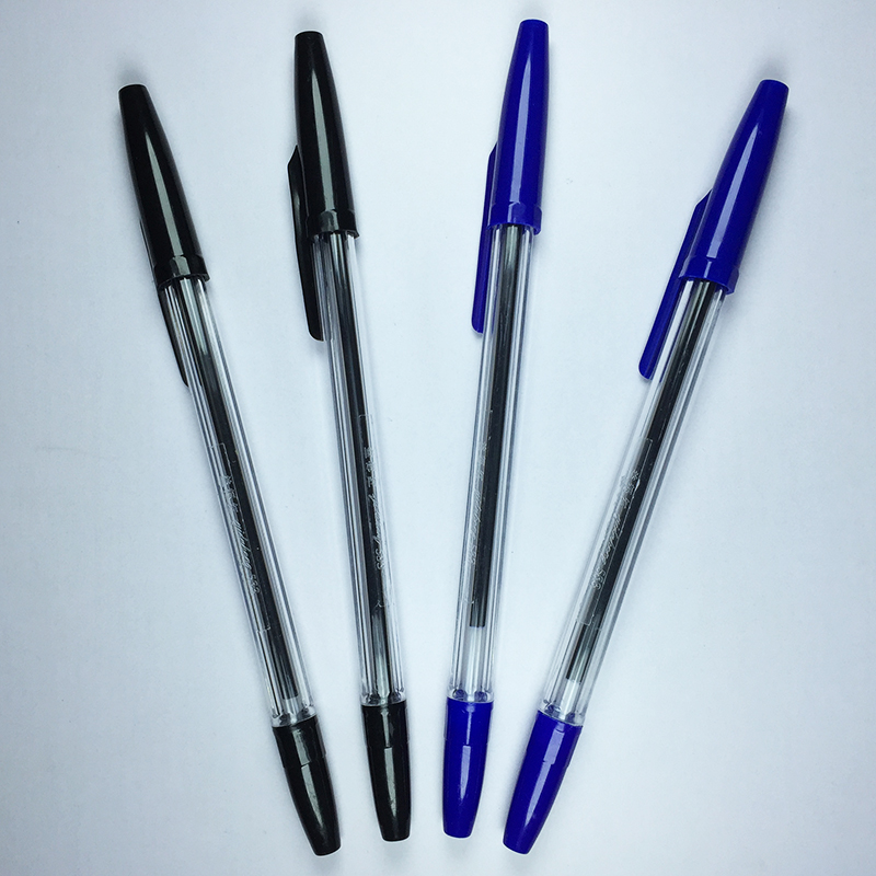 ball point pen The writing mechanisms of ballpoint pens are similar to rollerball pens but there are several differences while a ballpoint pen uses a thick oil-based ink, the rollerball pen uses liquid ink this key difference makes the rollerball feel smother and more liquid, giving it a more fluid action which is comparable to a fountain pen.