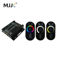 LED Controller 12V 24V 8A 3Channels 24A RF Wireless Touch Single Color CT RGB LED Strip