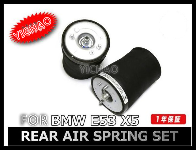 Pair of Rear Left + Right Air Suspension / Air Spring for BMW car X5 E53 Sport 37126750355 37126750356 1 x pcs of rear right air suspension air spring for bmw car 5ser e39 sport rear right 37 12 1 095 082 37121095082
