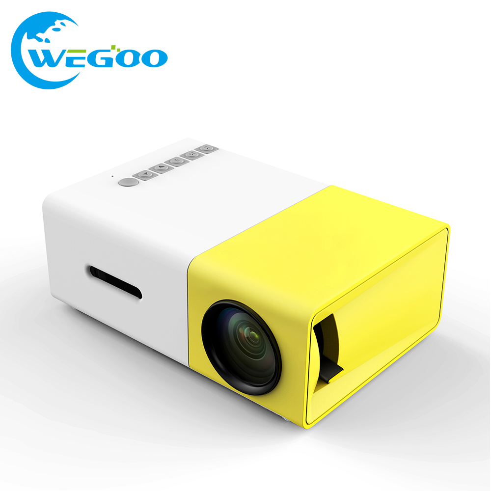 2017 Original YG300 LED Portable Proyector 500LM 3.5mm Audio 320x240 Pixel HDMI USB Mini YG-300 Projector Home Media Player hot led portable pico projector hdmi usb yg 300 mini projetor home theater media player vs xgimi h1 support celular android tv