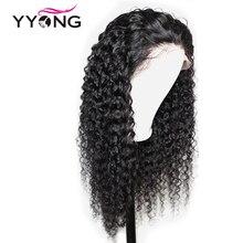 Yyong 13x4 Кружева Перед Парики Человеческих Волос Для Женщин Предварительно Сорвал Волос