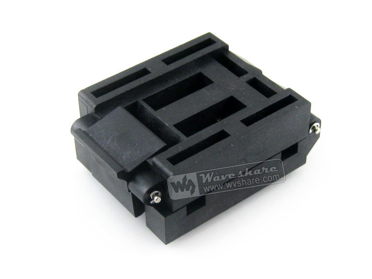IC51-0804-956-2 IC51-0804-956 Yamaichi IC Test Socket Adapter 0.65mm Pitch QFP80 TQFP80 FQFP80 PQFP80 package IC Body Size14*14
