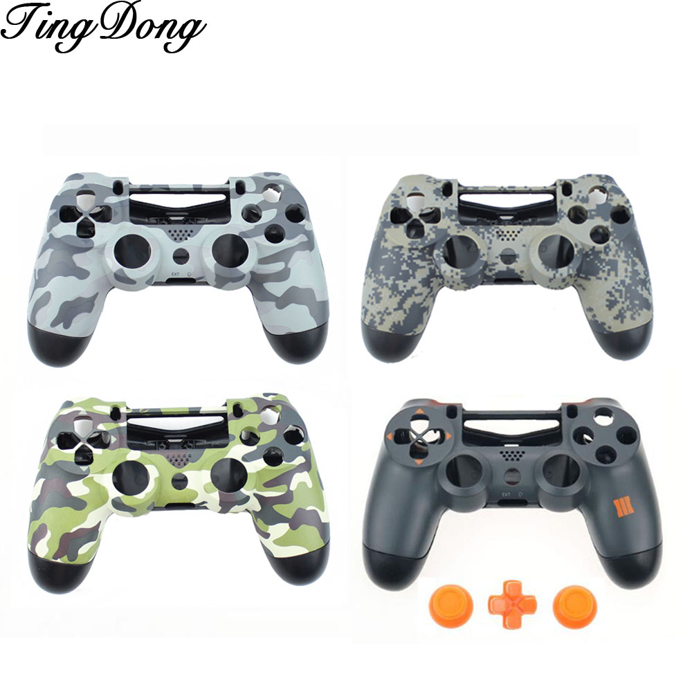 for <font><b>PS4</b></font> JDM-011 Controller Customs Camo Shell <font><b>Case</b></font> Cover Housing Shell Replacement for Playstation 4 <font><b>PS4</b></font> Controller image