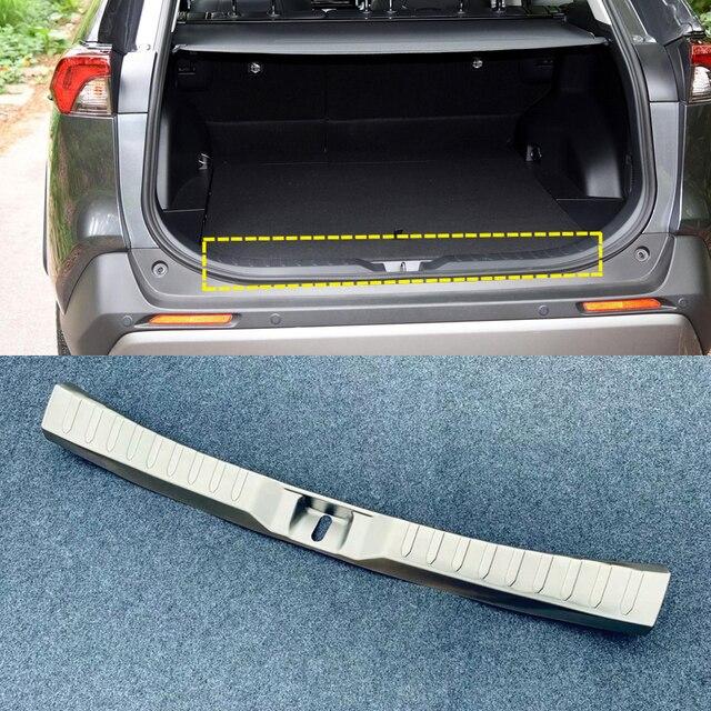 Dla TOYOTA RAV4 2019 2020 ze stali nierdzewnej Auto Car Styling wewnętrzna strony z tyłu ochraniacz zderzaka próg osłona podstawy wykończenia 1 sztuk