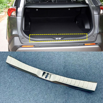For TOYOTA RAV4 2019 2020 Stainless Steel Auto Car Styling Inner side Rear Bumper Protector Sill Plate Cover Trim 1pcs