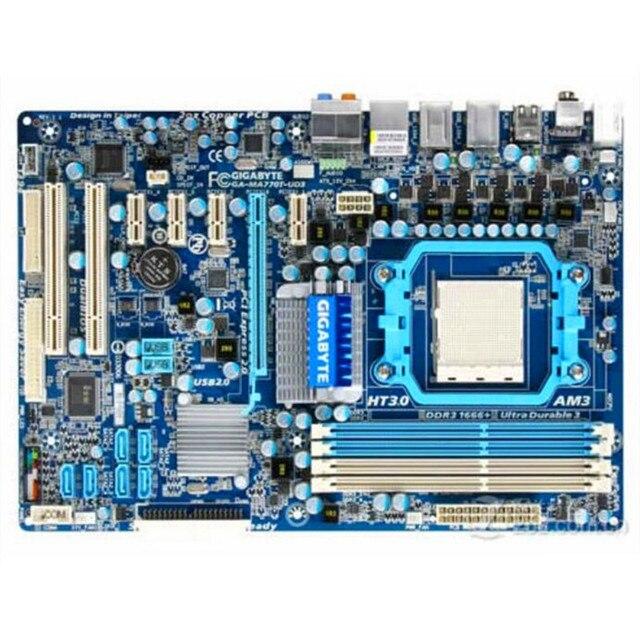 Do Gigabyte GA-MA770T-UD3 oryginalny używany pulpitu płyta główna MA770T-UD3 770 gniazdo AM3 DDR3 SATA2 USB2.0 ATX