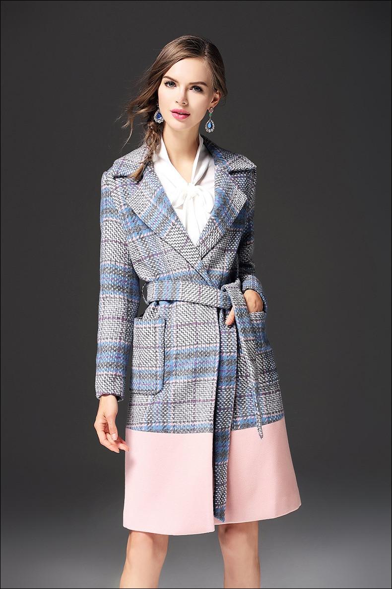 Chaud Femelle 2017 Automne Multi Vintage Manteau Laine Long Élégant Hiver Vestes De New Femmes aH7qA
