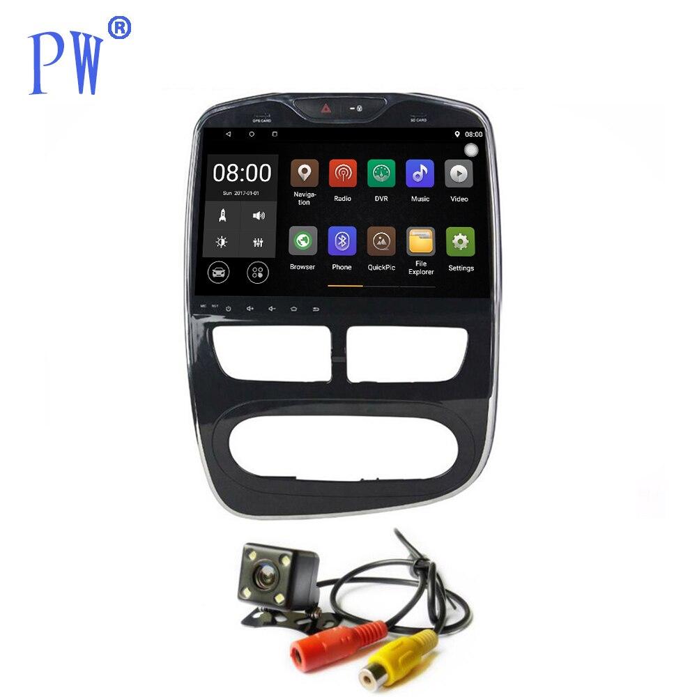 Android 7.1/8.0 voiture GPS Navigation stéréo pour Renault Clio unité principale voiture multimédia Audio pas de lecteur CD DVD Auto/manuel Navi