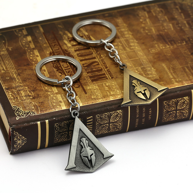 Assassins Creed Keychain Odyssey New Game assassin's Key Chain Key Holder Porte Clef Llaveros Hombre 5
