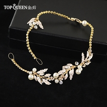 TOPQUEEN HP87 Wedding Bridal Party Pearl Diamond Flower Tiara Women Romantic Headband Hair Bands Headress Headwear Accessories cheap Flowers Polyester Adult as picture 2*35CM 0 78*13 77IN wedding party photography banquet stage alloy Pearl Rhinestones luxury retro fairy bohemia vintage original trendy romantic fashion