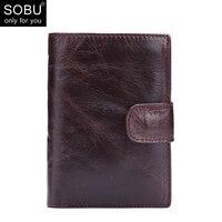 2018 NEW Men Wallet Genuine Leather Portfolio Brand Designers Male Clutch Wallet Money Pocket Multifunctional Coin Purse N088