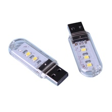1PC 3leds/8leds 5730 SMD Book lights Mini Protable USB Night light For PC Laptops Computer Mobile Power For 2017