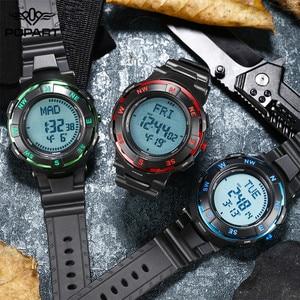 Image 4 - POPART גברים שעונים מצפן זמן בעולם שעון עצר למטה מונה מעורר LED הדיגיטלי ספורט שעונים לגברים שעון Relogio Masculino