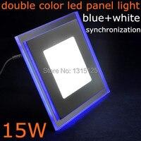 15 W Vierkante Acryl LED Panel Light LED Verzonken Plafond Down Light Lamp Koel Wit met bule AC85-265V Gratis verzending