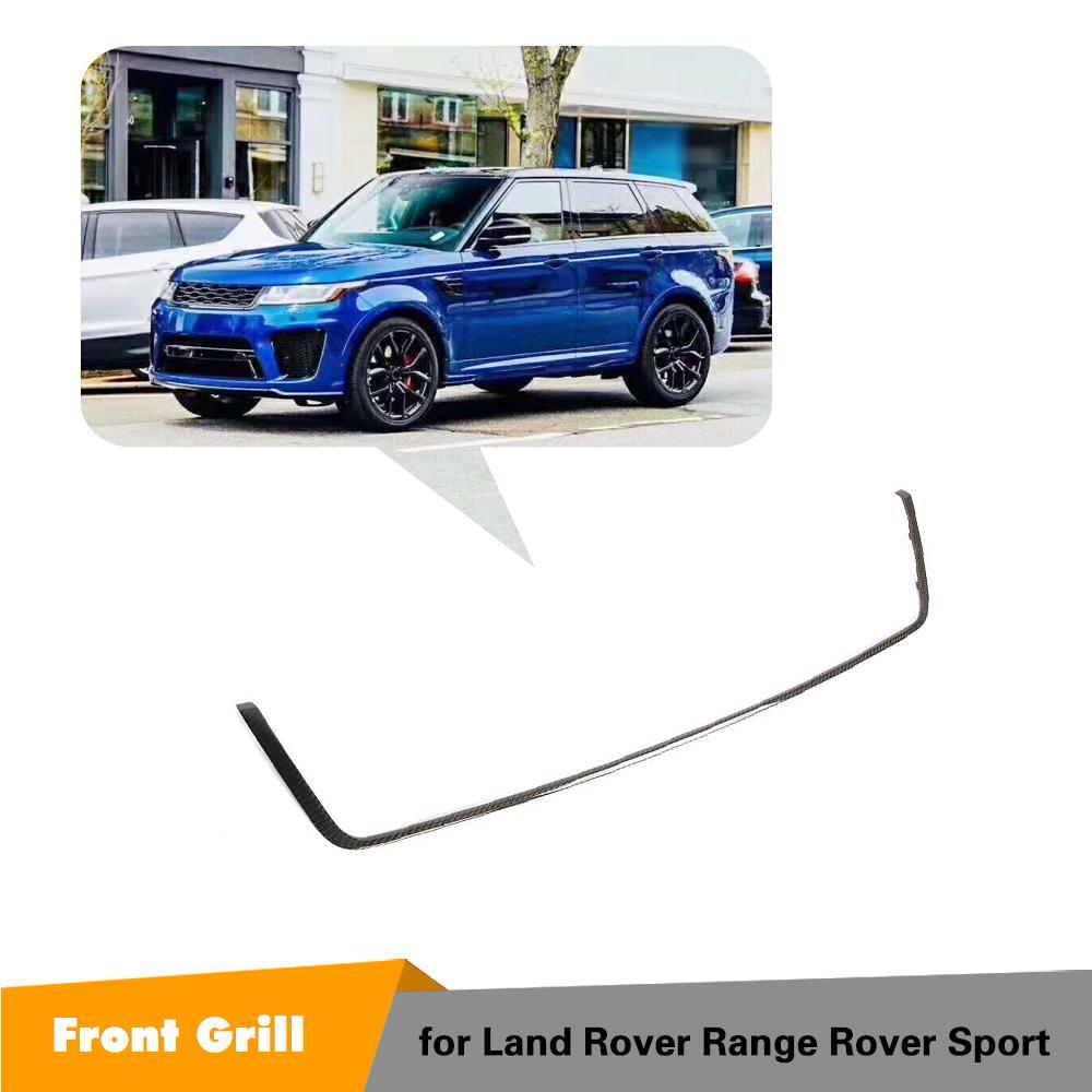Pour Land Rover Range Rover Sport 2018 2019 Grille centrale avant Grille cadre extérieur garniture voiture style