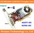 Free Shipping  NEW Original ATI HD2400 256M 64bit PCI-E Video Graphic Card with DMS 59 cable for HP 462477-001  461902-001