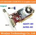O Envio gratuito de NEW Originais ATI HD2400 256 M 64bit PCI-E PLACA de Vídeo Placa Gráfica com DMS 59 para cabo HP 462477-001 461902-001