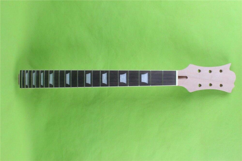 один 22 лада незаконченный электрическая гитара шея роза дерево fingerboar 6 строки ширину пятки 56мм