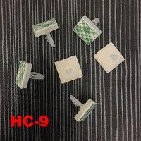 70 шт HC-9 нейлон Пластик печатной платы Поддержка держатель 3 мм отверстие блокировки, простая в использовании, с заклепками, 3 м клей-карандаш ...