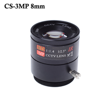 "Wholesale CCTV LENS 8mm 40degrees 1/2.5 "" 3MP F1.4 Fixed CS Mount Mega Lens 1080P HD CCTV Lens For CCTV Camera"