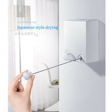 Indoor Outdoor Retractable Laundry Clothesline Wall Hanging Stretch Washing Clothes Line New Shrinking Balcony Invisible Line(China)