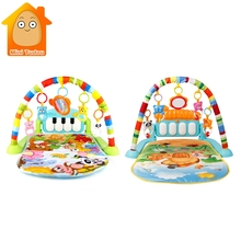 3 in 1 Baby Play Mat Baby Gym Toys Soft Lighting Rattles Musical Toys
