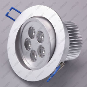 5W High Power LED Warm Pure White Ceiling Cabinet Fixture Down Light 85 265V AC цена 2017
