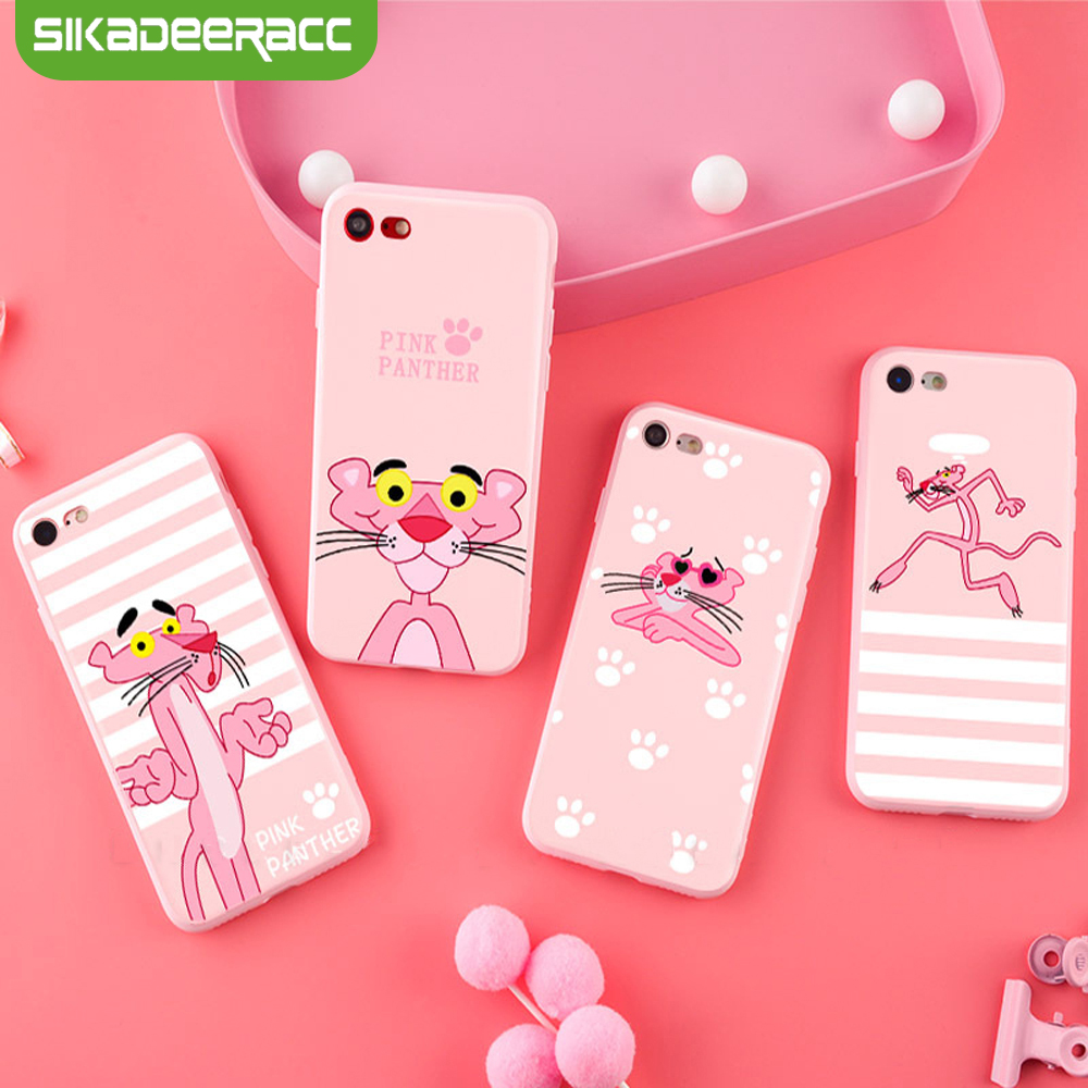 Pink Panther Phone Case For iPhone X 7 8 Plus 6 6s Plus Sili