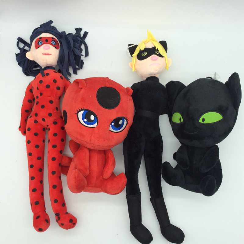 Black cat miraculous ladybug Noir Juguetes PLush Toy Miraculous lady bug Adrien Marinette Plagg Tikki Stuffed Plush Doll converse для детей
