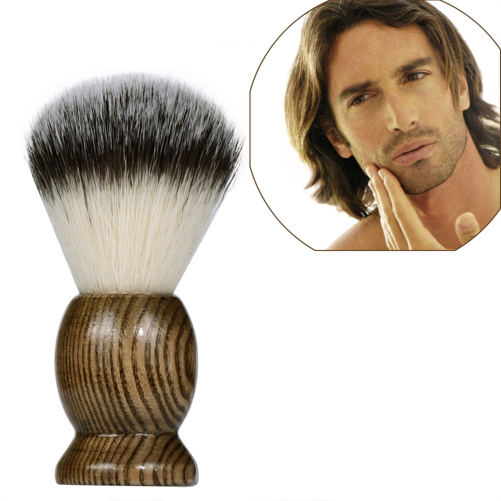 Hair Men's Shaving Brush Salon Men Facial Beard Cleaning Appliance Shave Tool Pure Badger Brush with Wood Handle for men