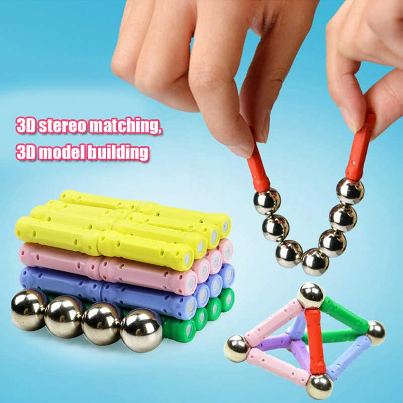 37/47 pçs/set nova venda quente criança inteligência brinquedo brinquedos educativos vara magnética presente favorito