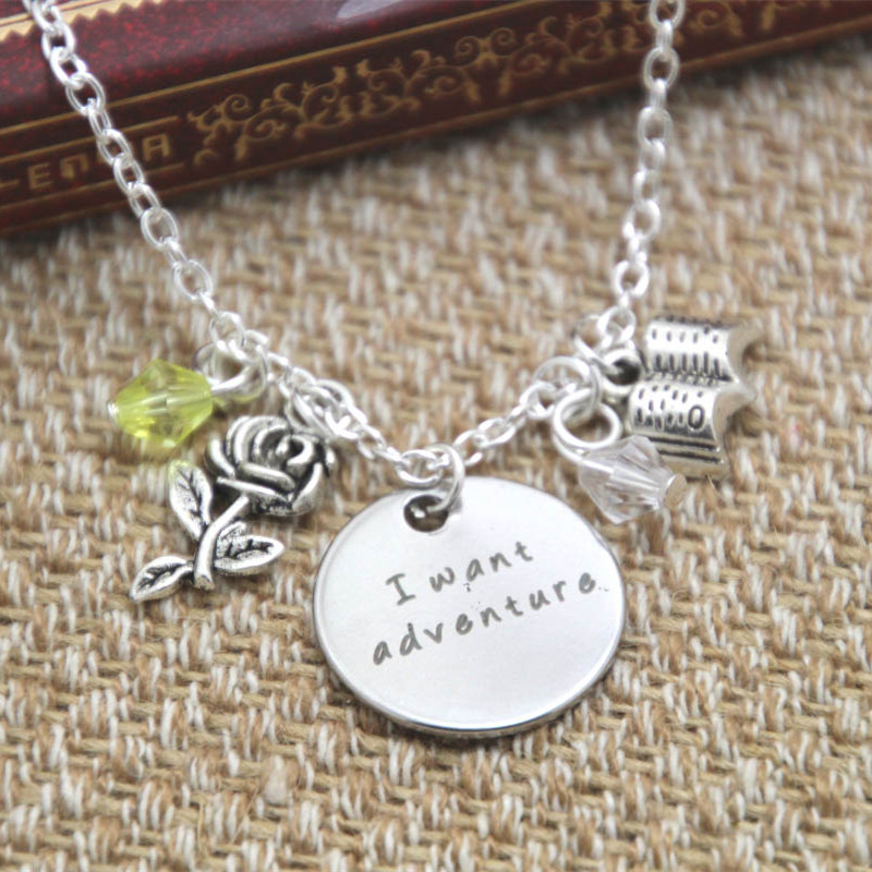 12pcslot Beauty And The Beast Inspired Necklace Belle I Want