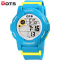 OTS Waterproof Children Boys Girls Kids Digital Multifunction LED Quartz Alarm Date  Sports Wrist Watch Alipower