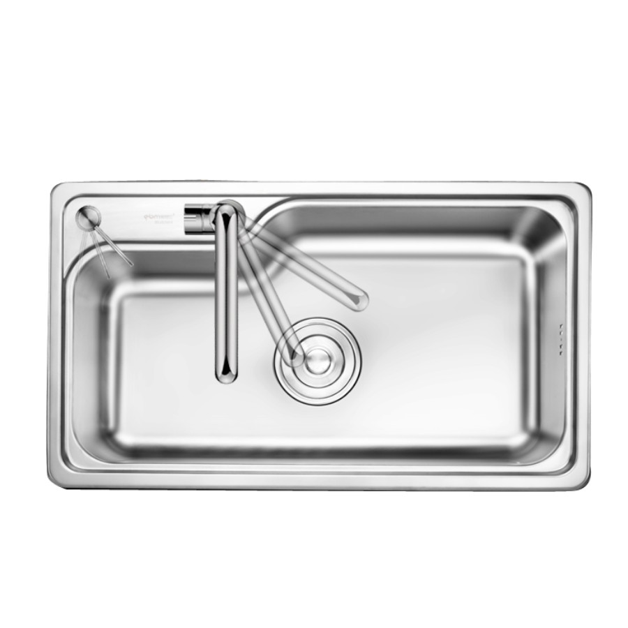 Oversize 304 Stainless Steel Kitchen Sink Increase Thickness Single Basin Washing Dishes Container For High In Sinks From Home