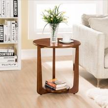 Stoliki do kawy meble do salonu meble do domu z litego drewna minimalistyczny sofa stolik dolna okrągły uchwyt na biurko stół do herbaty 50*50*53 cm tanie tanio ROUND Nowoczesne China Krajem ameryki Drewniane Ecoz 500*535MM Montaż