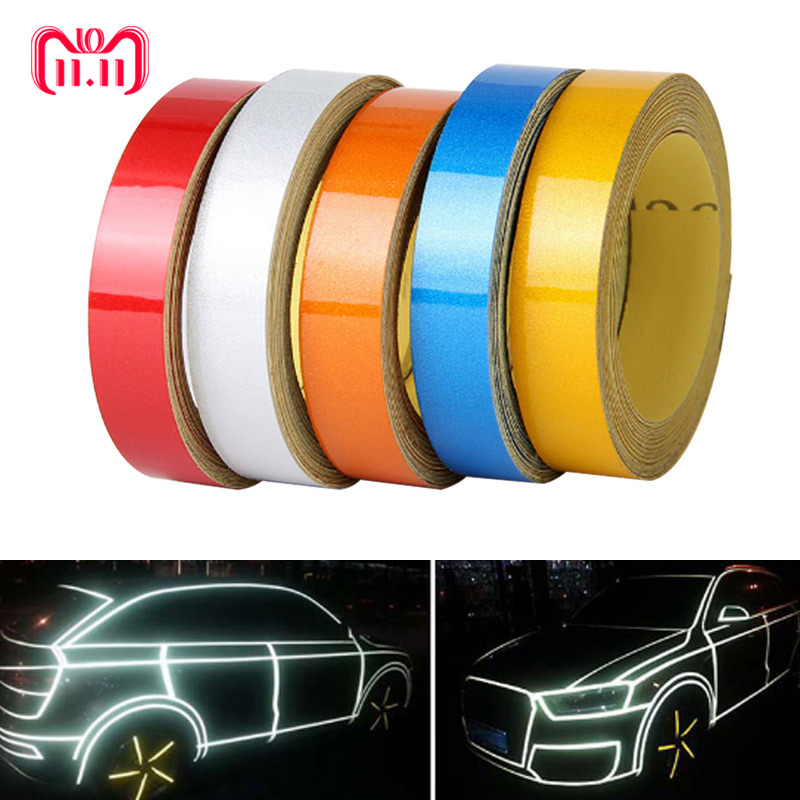 цена на Car-styling Night Magic Reflective Tape 1cm*5m Automotive Body Motorcycle Decoration Car Sticker