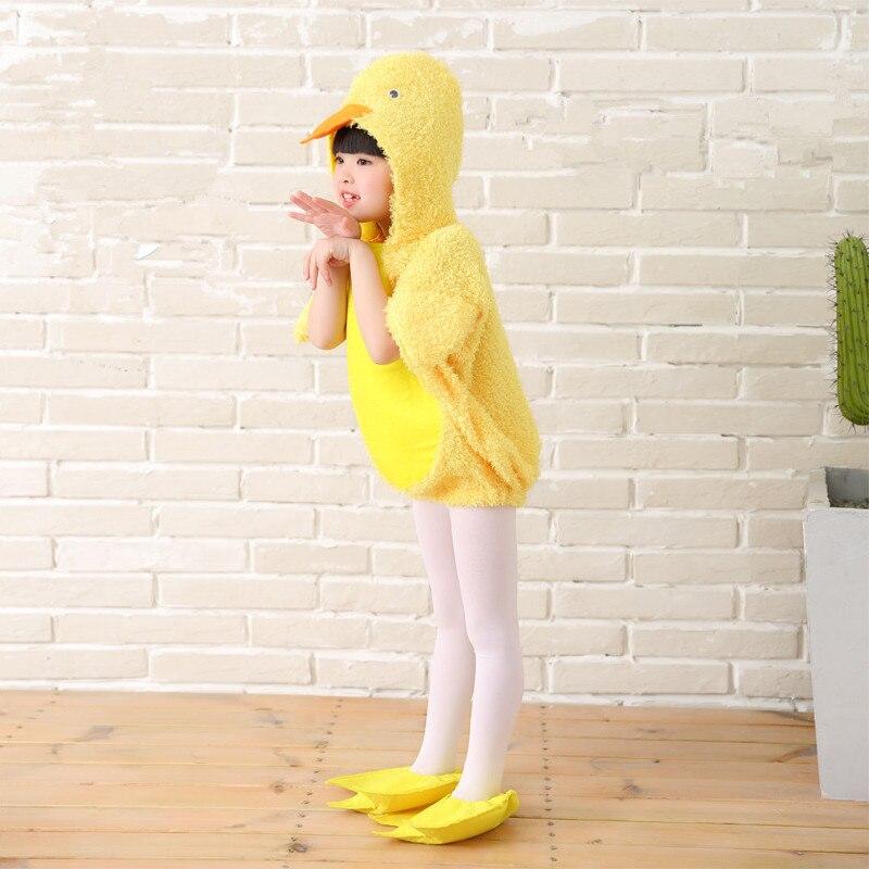 Costume de canard jaune pour enfants cosplay de canard costume d'animal drôle enfants costume drôle vêtements de fête animale