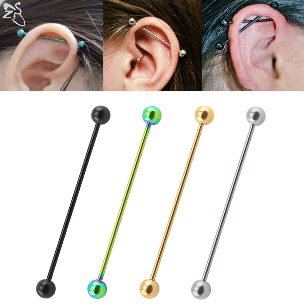 16G Scaffold Barbells Industrial Earrings 316L Surgical Steel Barbells Tongue Barbells Basic Piercing Barbells Body Jewelry,Sold as pair