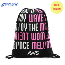 Free design polyester drawstring Bag advertising drawstring backpack  escrow accepted and free shipping