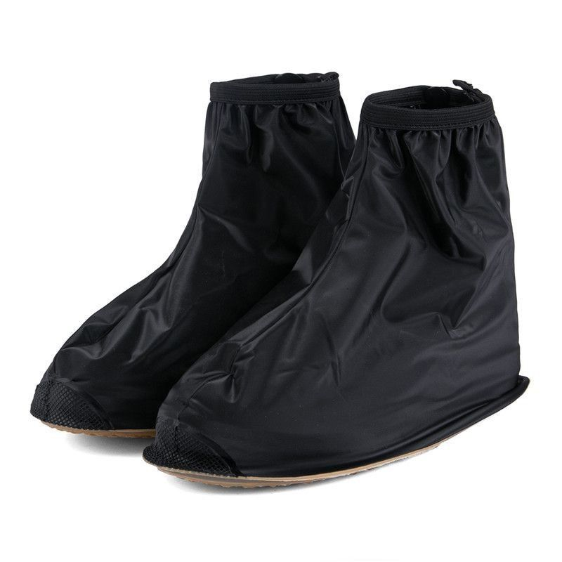 a pair of Waterproof Shoes Cover Rain Men Reusable Rain Boots Flat Rain Rain Gear