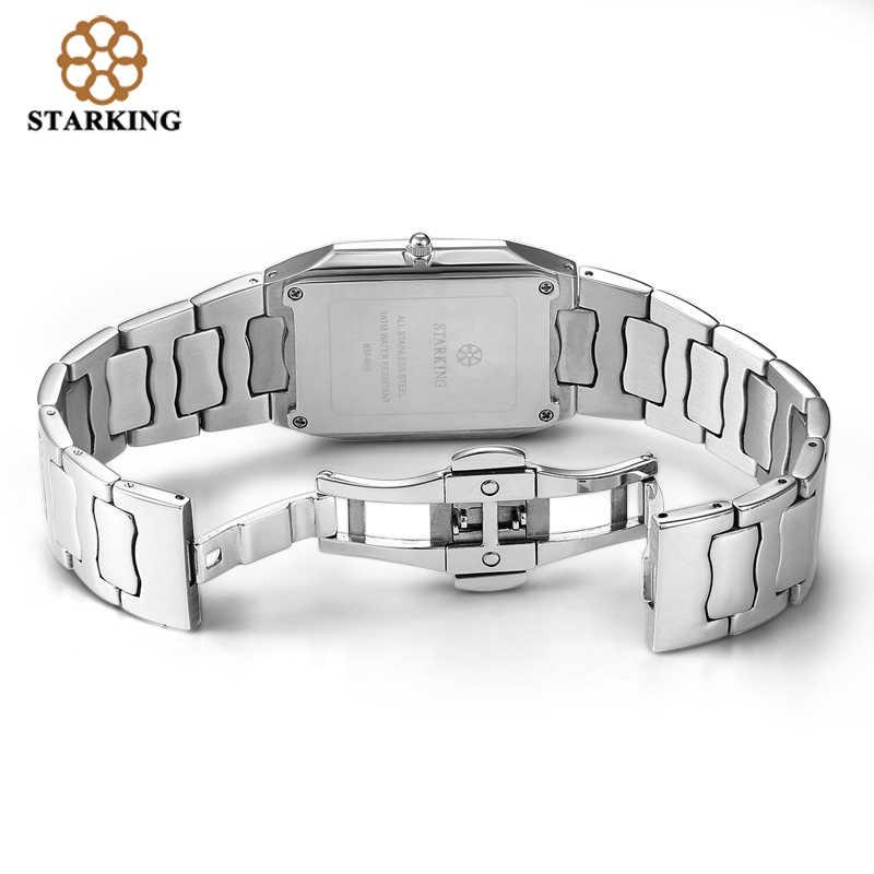 STARKING мужские японские часы кварцевые деловые мужские 2016 поступление модные повседневные часы известного бренда из нержавеющей стали BM0605