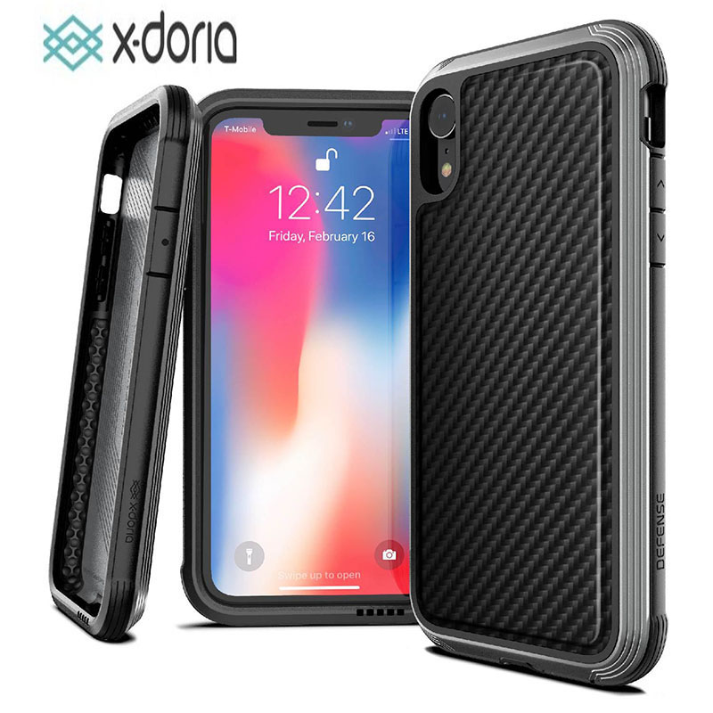 X-Doria Defense Lux Phone Case For iPhone X XR XS Max Military Grade Drop Tested Case Coque For iPhone XR XS Max Aluminum Cover